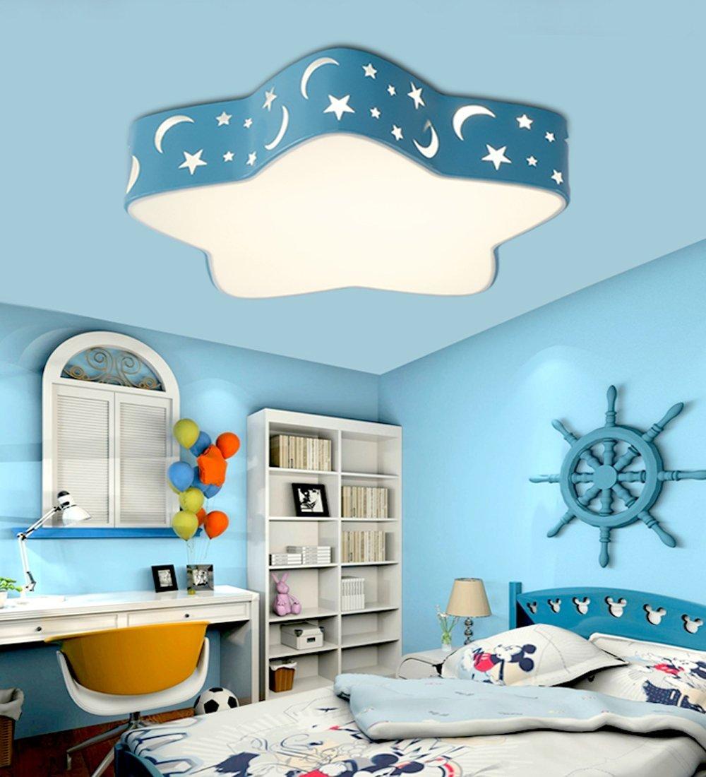 Kinderzimmer led deckenlampe 36w blau voll dimmbar mit - Deckenleuchte kinderzimmer madchen ...