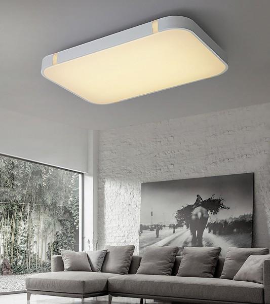 80W Weiss LED Deckenleuchte 3000-6000K volldimmbar mit Farbwechselfunktion
