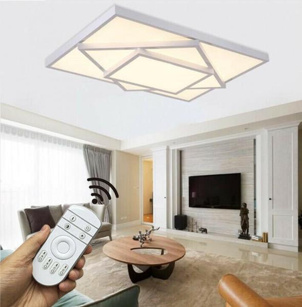 LED Deckenleuchte Metall Rahmen 6906C-72W-White dimmbar Fernbedienung