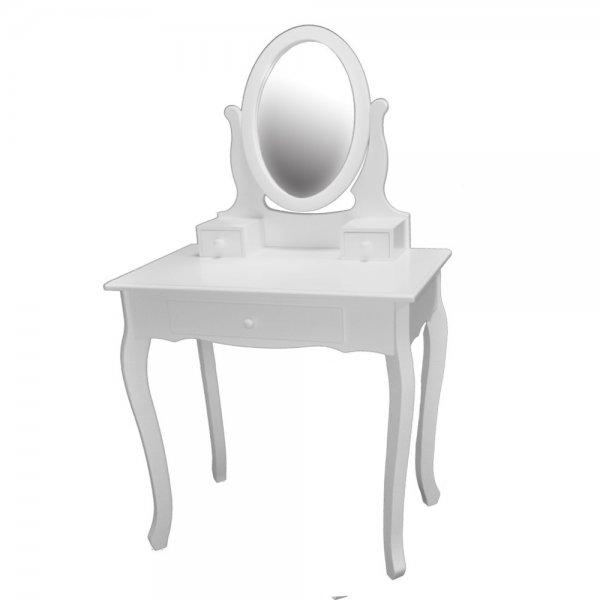 Schminktisch mit Spiegel 3 Schubladen Weiß STE169C-3-WH