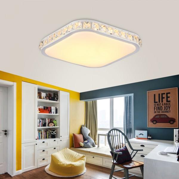 Ameride Kristal LED Deckenlampe Quadrat US-6105FK-48WW nicht dimmbar Warmweiss