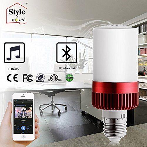 LED E27 4.5W Kaltweiss(6000K) Glühlampe 3W Bluetooth 4.0 Lautsprecher nicht dimmbar