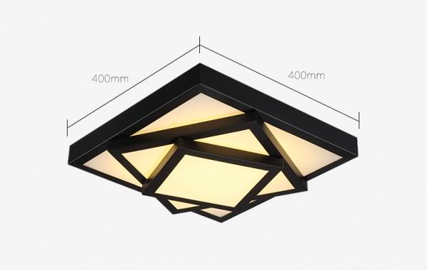 LED Deckenleuchte Metall Rahmen 6906F-24W-Black Warmweiße