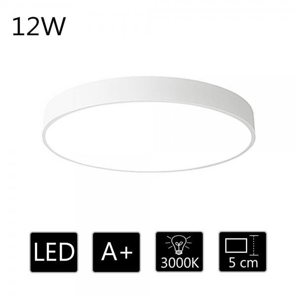 12W LED Deckenleuchte Deckenlampe warmweiss (Weiß)