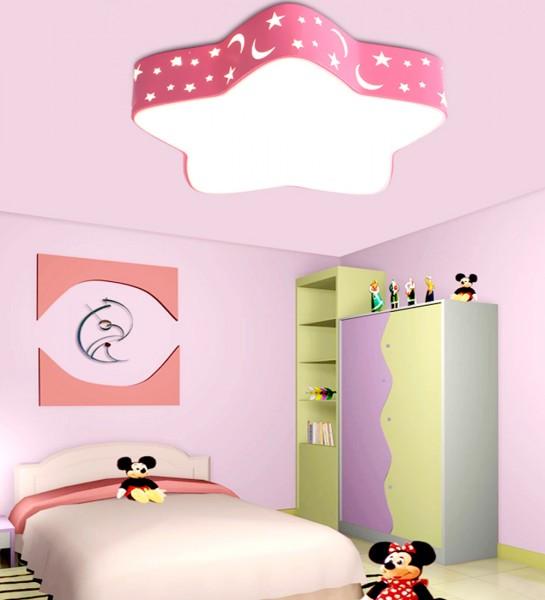 Kinderzimmer LED Deckenlampe 36W Rosa voll dimmbar mit Fernbedienung 6920