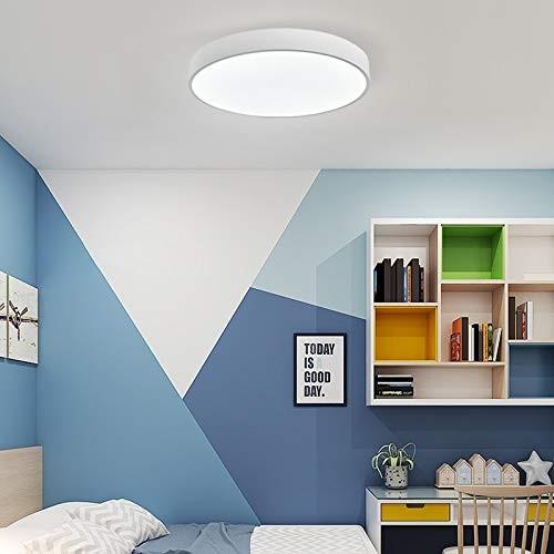 24W ultra dünn Deckenleuchte Deckenlampe rund warmweiß 3000k weiß