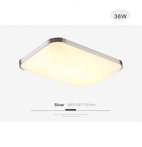 LED Deckenlampe 6501-36W Silber volldimmbar mit Fernbedienung
