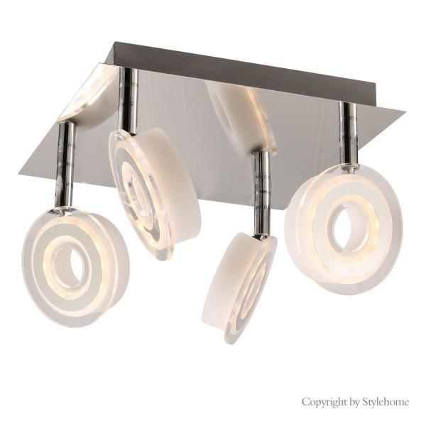 LED Deckenleuchte drehbaren Spots Warmweiss SD-8190F-4
