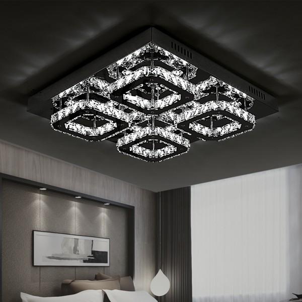 Kristal LED Deckenleuchte 32W 6813-4C Dimmbar mit Fernbedienung