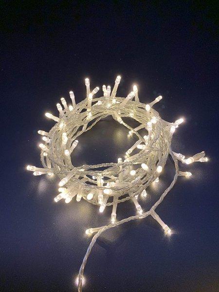 100er LED Lichterkette 8M Lichterketten Warmweiß 8 Leuchtmodi für Indoor & Outdoor
