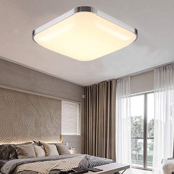 Ameride LED Deckenlampe Silber Warmweiß 54W