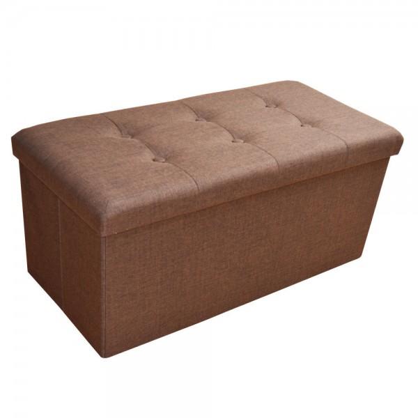 Sitzhocker Aufbewahrungsbox faltbar belastbar 2676-12 Braun