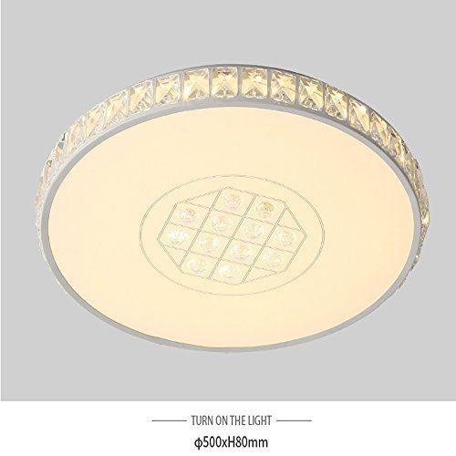36W LED Deckenlampe Leuchte rund Volldimmbar mit Fernbedienung Kristall PS6701-R50