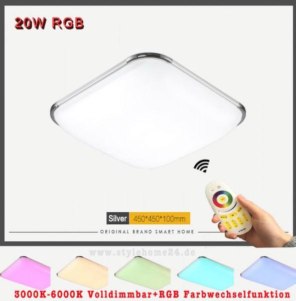 RGB LED Deckenleuchte 6310-20W-Volldimmbar mit Farbwechselfunktion