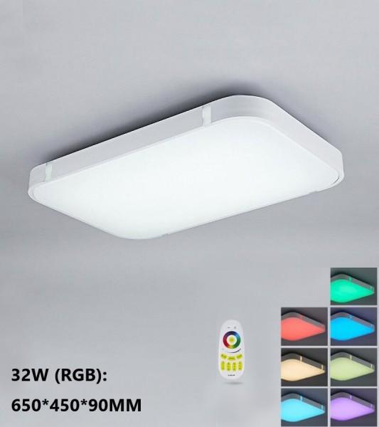 Silber 32W RGB LED Deckenleuchte 3000-6000K volldimmbar mit Farbwechselfunktion