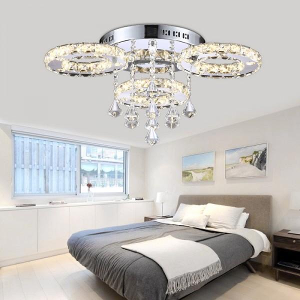 LED Kronleuchter 6106 30W 3-flammig 3 Farbe Stufen mit Fernbedienung