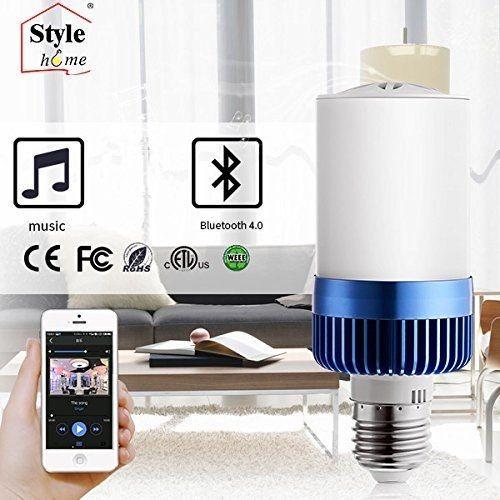 LED E27 4.5W Warmweiss(3000K) Glühlampe 3W Bluetooth 4.0 Lautsprecher nicht dimmbar