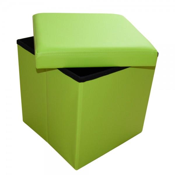 Sitzhocker Sitzwürfel Aufbewahrungsbox faltbar belastbar 1638-13-Grün