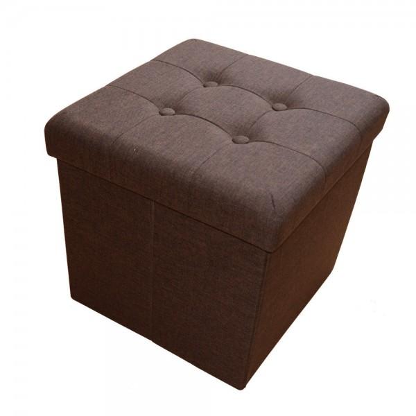 Sitzhocker Aufbewahrungsbox faltbar belastbar 2638-12 Dunkel-braun