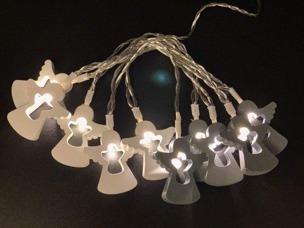 Style home 10er LED Lichterkette mit Engel Timer Batteriebetrieben für Indoor
