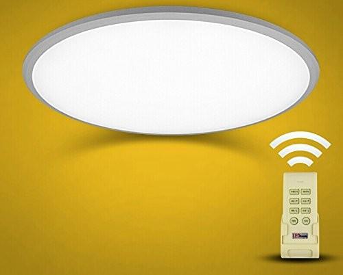 LED Ultralslim Deckenlampe Dimmbar mit Fernbedienung 24W silber