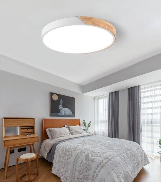 24W LED Deckenleuchte runde Deckenlampe dimmbar mit Fernbedienung LED Flurlampe Küchelampe Wohnzimme