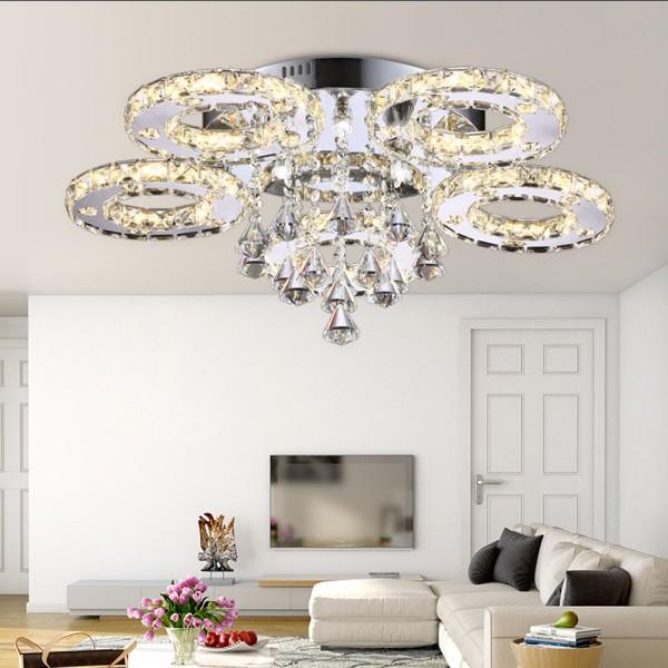 LED Kronleuchter 6106 56W 5-flammig 3 Farbe Stufen mit Fernbedienung