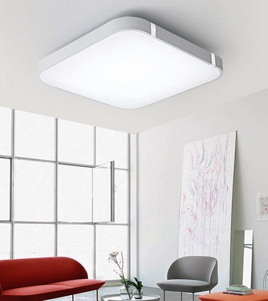 24W Silber LED Deckenleuchte 3000-6000K volldimmbar mit Farbwechselfunktion 45