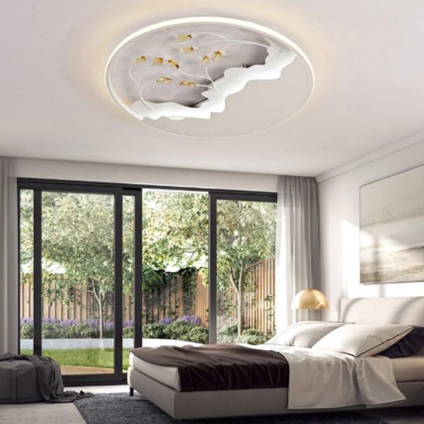 32W LED Ultral dünn kristal Deckenlampe Design Deckenlampe Deckenleuchte voll dimmbar mit Fernbedien