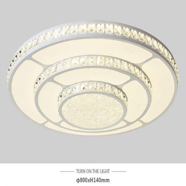 LED Deckenlampe Kronleuchter Kristalllampe Volldimmbar mit Fernbedienung 92W PS6936-R80