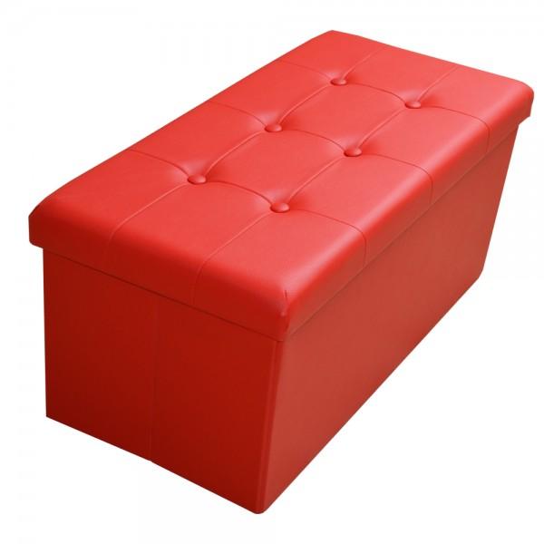 Sitzhocker Aufbewahrungsbox faltbar belastbar 1676-19-Signalrot