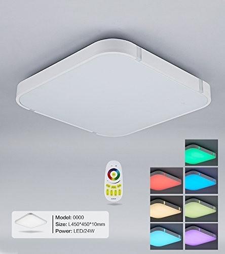 Weiß LED Deckenleuchte 3000-6000K volldimmbar mit Farbwechselfunktion 450*450m