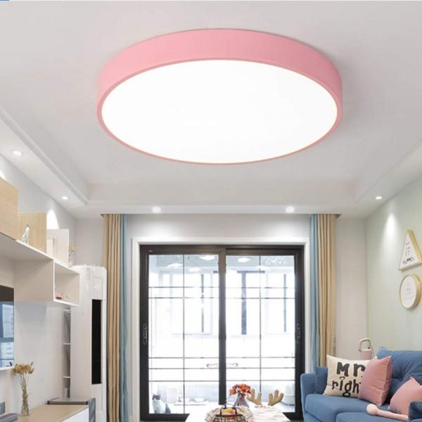 24W ultra dünn Deckenleuchte Lampe rund dimmbar pink mit Fernbedienung