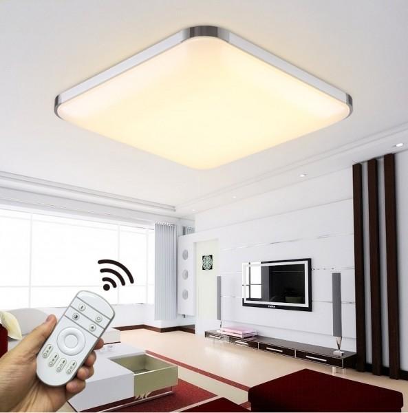 LED Deckenlampe 6501-54W Silber volldimmbar mit Fernbedienung