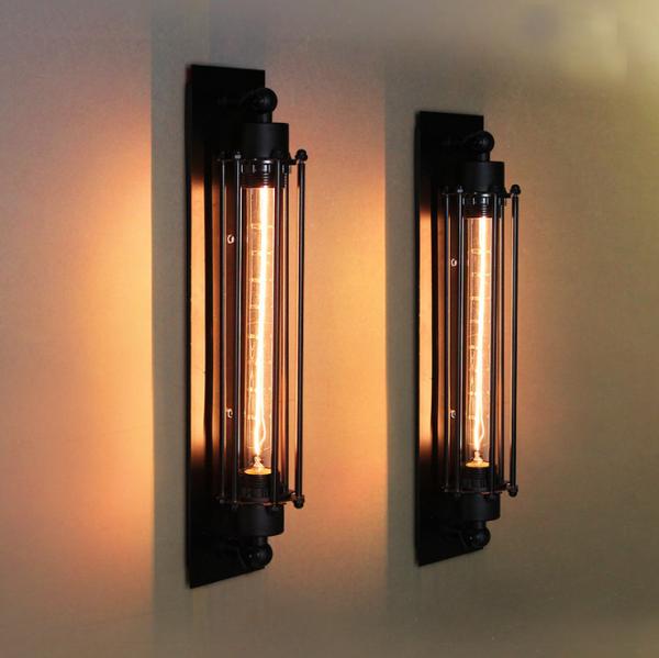 Edison Retro Wandlampe Metall Vintage inkl. gratis Leuchtmittel RL-W007