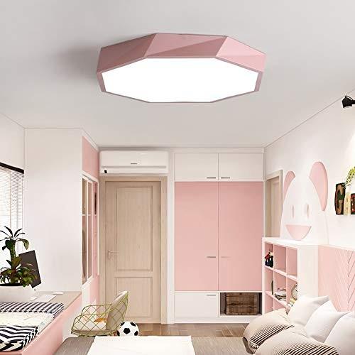 36W ultra dünn Deckenleuchte Lampe Diamant dimmbar pink mit Fernbedienung