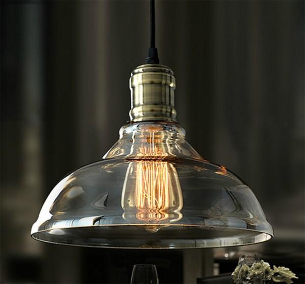 40W Edison Retro Hängeleuchte Glasschirm Vintage RL-C005