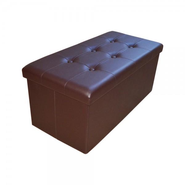 Sitzhocker Aufbewahrungsbox faltbar belastbar 1676-27 Dunkel-braun