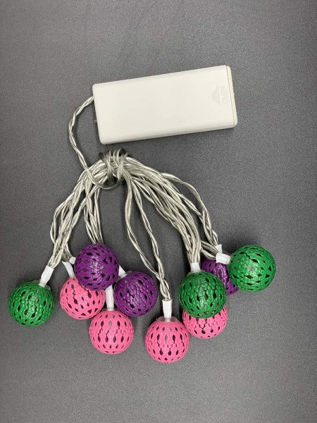 Style home Lichterkette 10er LED Lichterketten mit Metall Kugel, Timer, Batteriebetriebene Lichter f