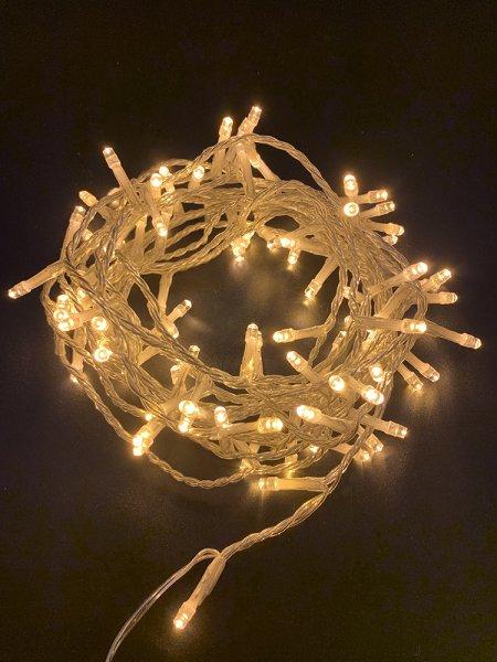 100er LED Lichterkette 8M Lichterketten Warmweiß 8 Leuchtmodi für Indoor & Outdoor-Copy