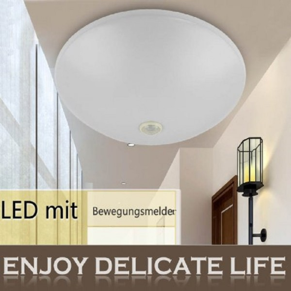 LED Deckenleuchte mit Bewegungsmelder TX128-16W Warmweiß