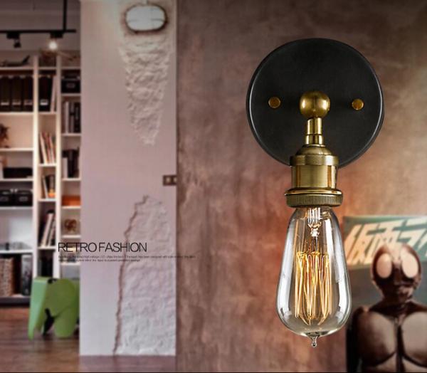 40W Retro Wandlampe Edison Metall Wandleuchte Vintage Stil inkl. Leuchtmittel RL-W005