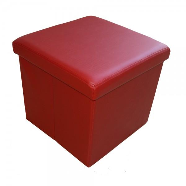 Sitzhocker Aufbewahrungsbox faltbar belastbar 1638-20 Dunkelrot