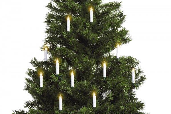 10er LED Kerzen mit Timer und Fernbedienung, Batteriebetriebene Weihnachtskerzen inkl. Halter Set