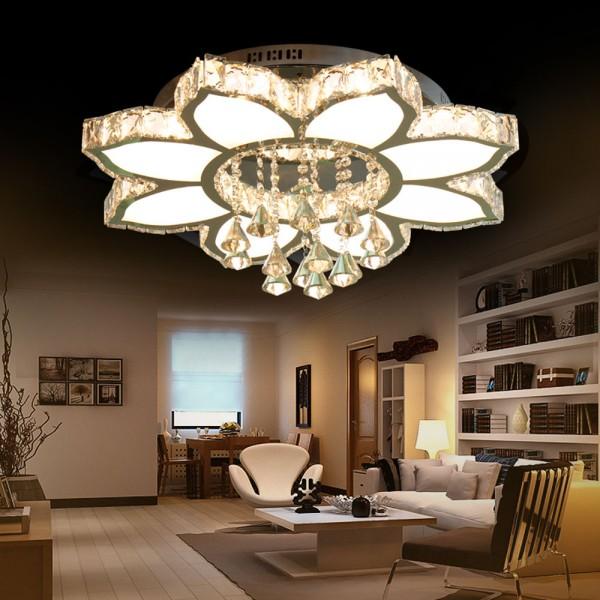 Dekoration Kristal LED 8 Flammig Kronleuchte 3 Farben Stufen 66W