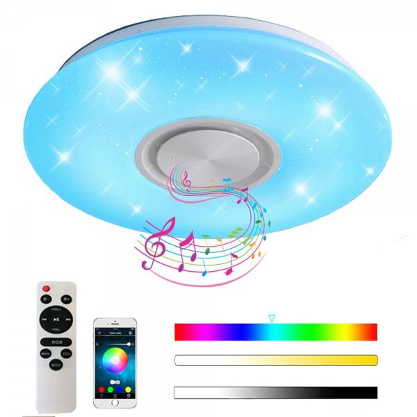 24W Bluetooth Deckenleuchte LED RGB Deckenlampe mit APP-Steuerung und Fernbedienung (400 * 55mm)